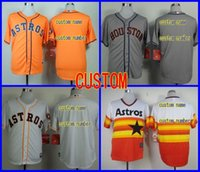 Wholesale Womens Orange Shirts - Mens,Womens,Kids Houston Astros jersey stittched vintage CUSTOM Baseball jersey Cool Base Jersey sports shirt Personalized name and number
