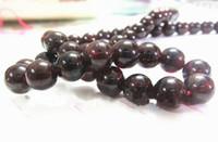 cuentas semipreciosas rojas al por mayor-4-10 MM A + Rojo Granate Rojo Granos Sueltos Granos de Piedra Semipreciosa joyas de perlas joyería de bricolaje pulsera que hace