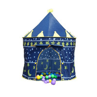 Wholesale Tent Play Free Shipping - hot Children Beach Tent Prince and Princess Palace Castle Children Playing Indoor Outdoor Toy Tent Game House Free shipping