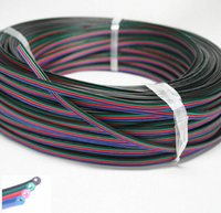 Wholesale Led Parts Wiring - 5m 10m RGB 4-Pin Extension Wire Connector Cable Cord For 3528 5050 RGB LED Strip LED DIY part
