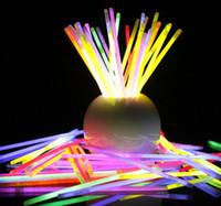 varinhas de luz piscando venda por atacado-7.8''Multi Cor Hot Brilho Vara Pulseira Colares de Festa de Néon LED Piscando Luz Varinha Varinha Brinquedo Da Novidade LED Concerto Vocal LED Flash varas