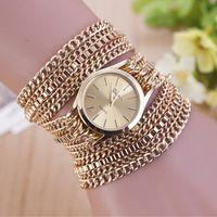 Wholesale Grey Twine - 2015 fashion Twining bracelet wristwatch luxury alloy hook bangle ring cuff quartz watch for women statement jewelry 230019