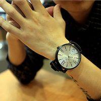 старинные большие часы оптовых-Оптовая продажа-2015 мода часы Новый 50 мм большой циферблат часы мужчины и женщины ретро старинные большое лицо Кварцевые наручные часы