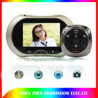 Wholesale NEW quot LCD Digital Video Smart Peephole Door Viewer Eye Doorbell Home Message Profile Motion Detection Night Vison M635