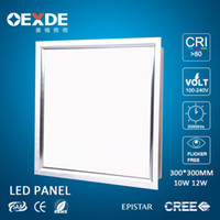 Wholesale Panel Led 2835 - factory 12W LED Panel 300X300 Led Ceiling lights SMD 2835 120 Degree Warm Cool White Square 30X30CM With Led Driver 85-265V CE RoHS