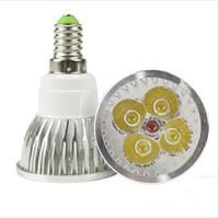 bombillas led led 4w al por mayor-Lámpara de bombilla LED 60 grados Cree Power Led 4W Torno Aluminio Redondo Spot Light Nueva llegada