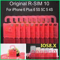 iphone 4s için x sim toptan satış-R-SIM 10 RSIM 10 R-SIM 10 Mükemmel SIM kart kilit kırma resmi IOS 6.x-8.x telefonları için.RSIM iphone 6 plus I65S 5C 5 4S GSM CDMA WCDMA 3G 4G telefonlarında geçerlidir.