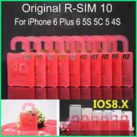 x sim para iphone 4s venda por atacado-R-SIM 10 RSIM10 R-SIM10 Cartão SIM Perfeito Desbloqueio Oficial IOS 6.x-8.x Original RSIM 10 para iphone 6 mais I6 5S 5C 5 4S GSM CDMA WCDMA 3G 4G