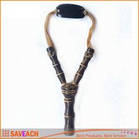 Wholesale Wood Sling Shot - New Arrival Powerful Wooden Slingshot Sling Shot Catapult Camouflage Bow Catapult Outdoor Hunting Camping Travel Kits