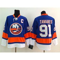 # 91 John Tavares Blue Hockey Maillots Islanders Hockey Wears Meilleure vente de l'équipe New Jersey Hiver Ice Hockey Maillots Uniformes