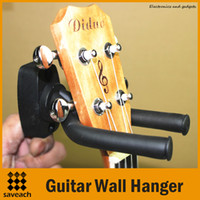 Wholesale Compact Bass Guitar - Black - Universal Adjustable Arms Guitar Wall Stand Hanger Rack Hook Bracket for Most Guitar Bass Ukelele Easy Compact Space-saving