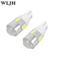 Wholesale parks nissan - WLJH for SAMSUNG 5730SMD Led Car T10 W5W Parking Light Projector Lens Led For Hyundai Kia Suzuki Nissan Subaru Mitsubishi Cadillac Chrysler
