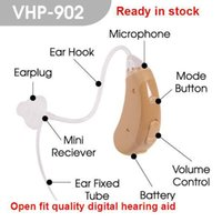 Wholesale Digital Ear Hearing Aids - adjustable Open fit digital wireless Hearing Aid VHP-902 sound amplifier digital Hearing Aid for personal ear voice