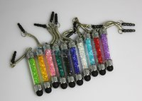 mini caneta de cristal venda por atacado-Atacado-Mini stylus cristal caneta capacitiva caneta toque para ipad mini ipad 4 5 Galayx I9500 frete grátis 50pcs / lot