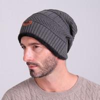 Wholesale cycling baseball hats - New winter outdoor headwear beanies wool caps velvet warm knit hat men women hooded hats fashion beanies for sale
