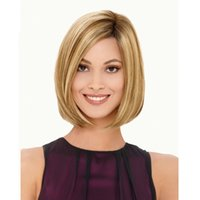 blonde highlights styles - Fashion hair style Fashion blonde highlighted Short Straight BOBO womens wig