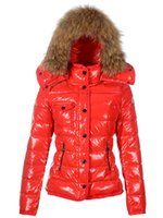 100% Real Fur Collar giù Giacca Parka Donna Nero Bianco Rosso Racoon Short Style inverno caldo Hoodies Parka Down Cappotto L Luxury Parkas
