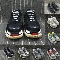 Wholesale Men S Casual Walking Shoes - ( With Original Box )Autumn Winter 17FW Triple-S Men Sneaker Shoes High Quality BL Arena Trainers Luxury Breathable Casual Walking Shoes