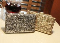 Wholesale Outlet Evening Dresses - Wholesale-Factory outlets in Europe and America sequined super flash hard PACKER banquet clutch evening bag bride dress bags dress purse