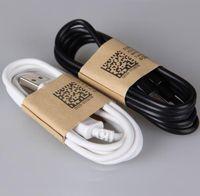 huawei lenovo toptan satış-Yüksek kaliteli Şarj Kablo 1M Mikro USB Veri Kablosu Şarj adaptörü cabo Cabel Samsung LG Xiaomi lenovo Huawei ZTE telefon DHL ücretsiz