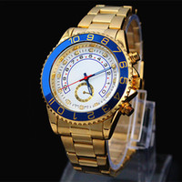 Wholesale Big Designs - 2017 Famous design Fashion Men Big Watch Gold silver Stainless steel High Quality Male Quartz watches Man Wristwatch business classil clock
