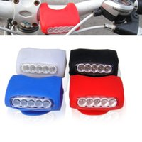 Super Bright 7LED Silicone Bicycle Handlebar Light Headlight Luz de aviso de bicicleta Mountain Bike Decoração Lâmpada Bright White