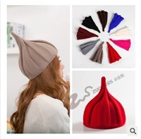Wholesale Tall Men Fashion Wholesale - Winter Hats Women Hats Top Quality Beanie Hats Pointy Hats for Women Knitted Woolen Yarn Hats Fashion Hats Beanies for Men m842