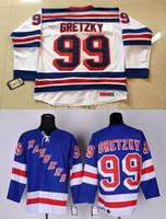 Wholesale Rangers Jersey China - Factory Outlet, Cheap New York Rangers Jersey 99 Wayne Gretzky Jersey Blue White Wholesale NY Rangers ice Hockey Jerseys China