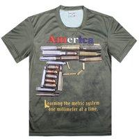 "Wholesale Cool Novelty Guns - ""I DON'T CALL 911""Printed 3D Creative T Shirt New Fashion Funny Gun Cool T-Shirt,S-6XL"