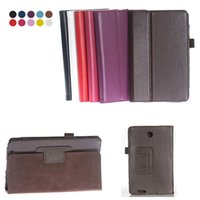 Wholesale Asus Me371mg - HOT SALE Flip Litchi Grain Line PU Leather Stand Back Cover Case For Asus FonePad ME371MG