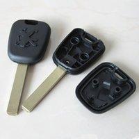 Wholesale Cheap Transponder - Cheap price for Peugeot 307 transponder key blank shell FOB key case 25pcs lot free shipping
