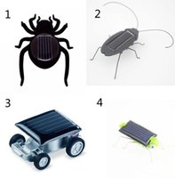 Wholesale Christmas Toy Car - 4 Styles Robot Christmas Birthday gift Solar Spider Car Grasshopper Cockroach Education toys B