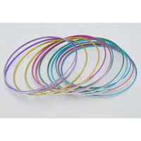 Wholesale Thin Metal Rings - TXL95 color bangle bracelet thin metal ring bracelet bracelet batches WY112 50p