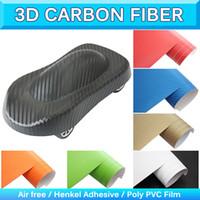 Wholesale Texture Foil - 3D Carbon Fiber 3D Car Wrapping Film Carbon Fiber Foil Texture Vinyl Wrap Air Free Drain Release 1.52x30m 5x95Ft 0.16-0.18mm