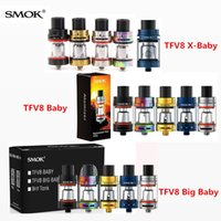 Wholesale E Cigarette X8 Kit - SMOK TFV8 X-Baby 4ml Tank & 3ml Baby & 5ml Big Baby Atomizer Single Pack New TFV8 X Baby 5Colors E Cigarette for Stick V8 Stick X8 Kit DHL