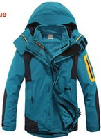 Wholesale Snowboard Jackets Brands - Fall-The Best Ski Jackets  Nano glossy coated fabric winter brand Waterproof 3-layers outdoor sport skiing snowboard for mens