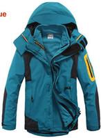 melhores jaquetas de inverno da marca venda por atacado-Queda-The Best Ski Jackets / Nano brilhante revestido de inverno marca de tecido impermeável de 3 camadas ao ar livre esporte esqui snowboard para mens