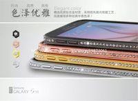 galaxy s5 metal tampon toptan satış-Galaxy S6 Durumlarda Lüks Kristal Rhinestone Elmas Bling Metal Tampon Kılıfı iphone 6 5 S 4 s Samsung S5 S6 Not4 Not3