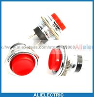 Wholesale Push Button Switch Momentary Blue - 20pcs *BLUE RED Momentary OFF ON PushButton Horn Switch