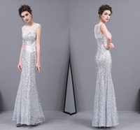 Wholesale traditional mermaid wedding dresses for sale - Group buy Customize African Traditional Selling Silver Sequined Sleeveless T shirt Mermaid Halter Dress Neat Arabic Wedding Dresses HY0002