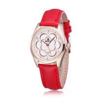 женщины skone watch оптовых-Горячие продажи мода кожаные часы повседневные часы Кварцевые часы розовое золото часы SKONE марка для женщин