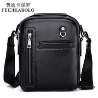 Wholesale Mens Small Handbag - FEIDIKABOLO New Fashion Leather Men Bags Male Bag Mens Casual Business Crossbody Bags Handbags Messenger Small Men Leather Bag