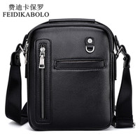 Compra Borsetta Di Piccola Impresa-FEIDIKABOLO New Fashion Leather Uomo Borse Uomo Borsa Uomo Casual Business Crossbody Borse Borse Messenger Piccolo uomo Borsa in pelle