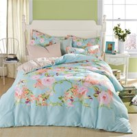 Wholesale Cheap Girls Comforters - Wholesale-Freeshipping Cheap Designer Bedding Bed Cover King Comforter Set Bedspreads and Comforters Floral Duvet Covers for Girls