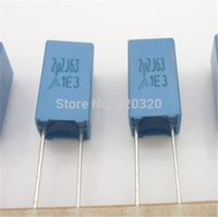 Wholesale Capacitor For Amplifier - Wholesale-LYD15pcs lot 63V 2.2UF Polystyrene capacitor Correction capacitor fever audio capacitors for HIFI amplifier