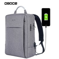 Wholesale Canvas Book Bags For Women - 2017 New OSOCE USB Unisex Design Backpack Book Bags for School Backpack Casual Rucksack Daypack Oxford Canvas Laptop Fashion Men Backpack