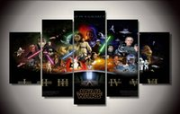 Wholesale Digital Movie Picture Frames - Framed Printed star wars Movie Poster Group Painting children's room decor print poster picture canvas Free shipping F 1306