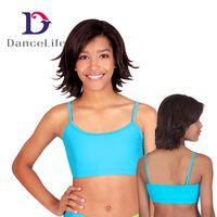 Wholesale Yellow Dance Bra Top - Free shiping Adult camisole bra dance top A2423 Discount bra ballet tops dancewear Supplier China