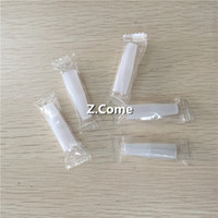 Wholesale Mt3 Clear - individual package clear eGo Silicone Disposable Test Drip tip Tips Cap cover With Hole Clean Mouthpieces For CE4 CE5 CE6 MT3 H2 Atomizer