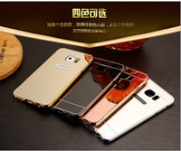 Wholesale Galaxy S3 Back Frame - for Samsung GALAXY S3 S4 S5 S6 S6 EDGE S7 S7 EDGE J2 PRIME J5 PRIME Mirror Luxury Metal Aluminum Bumper Frame PC Back Cover 100PCS LOT